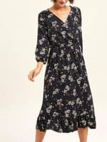 FAT FACE GRACIE FLOATING FLORAL MIDI WRAP DRESS NEW SIZES 6-14